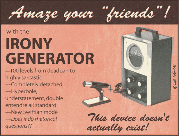 Irony generator