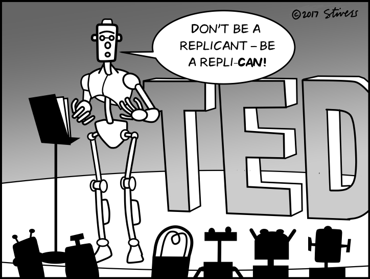 Robot motivational speaker