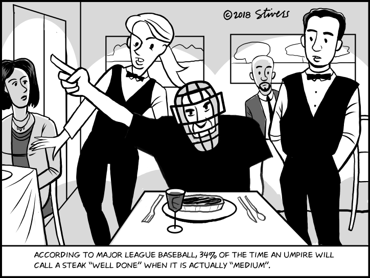 Stivers Cartoons Archive Umpire And Steak