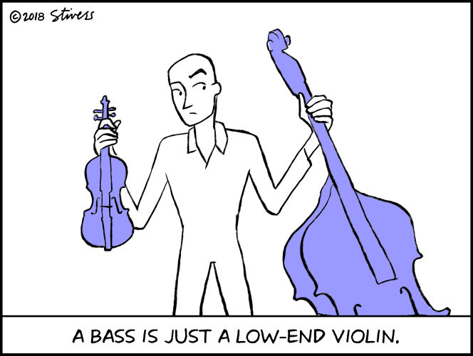 A bass is just a low-end violin