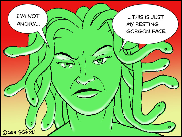 Resting Gorgon face