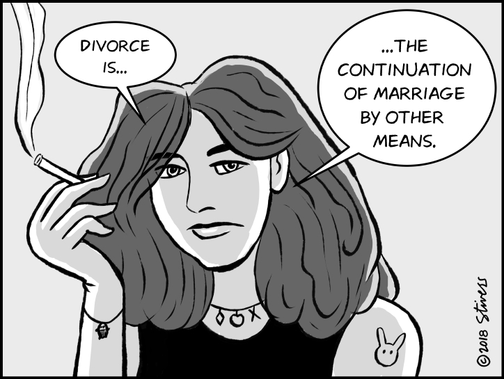 Divorce is the continuation…