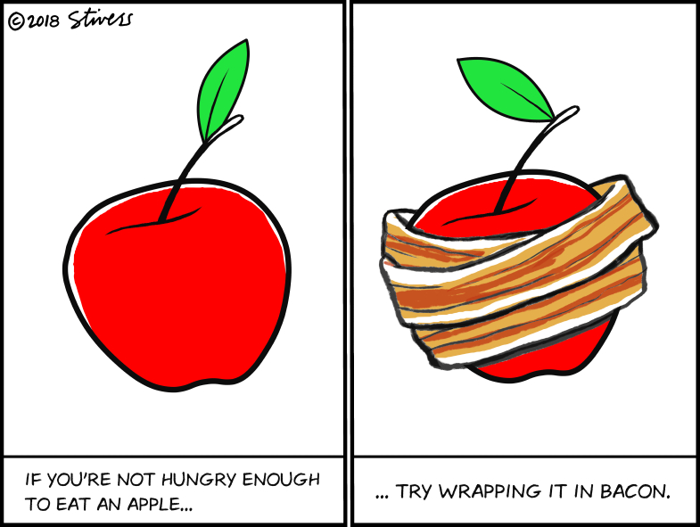 If you're not hungry enough to eat an apple