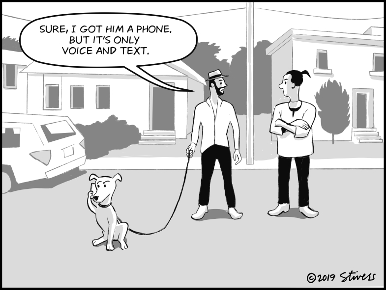 Phone for the dog